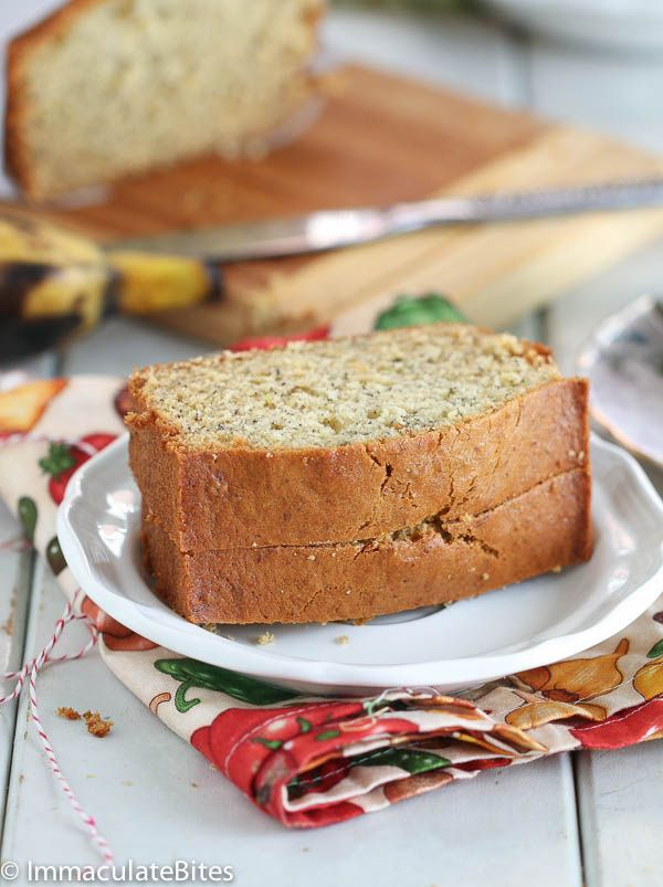 Plantain Bread/Cake-Use up your leftover plantain/banana and make this amazing bread. It's light, fluffy and dangerously good!