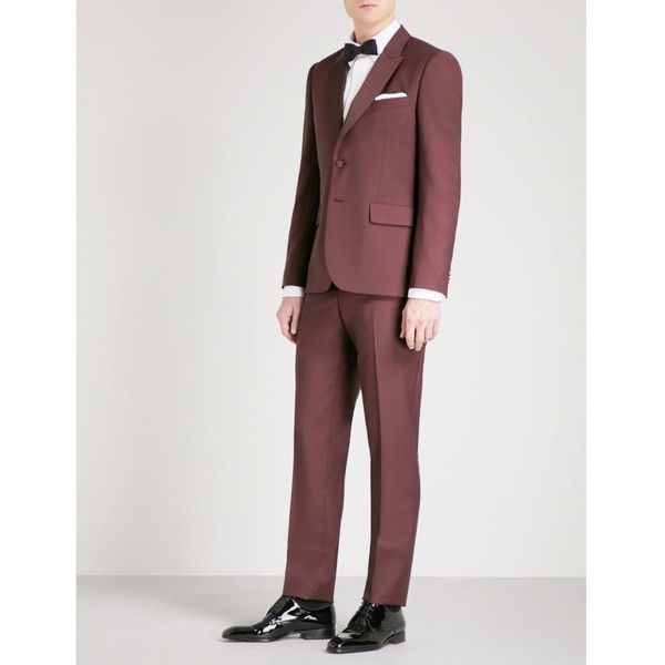 Paul Smith Soho-fit single-breasted wool and mohair-blend suit (878,950 KRW) ❤ liked on Polyvore featuring men's fashion, men's clothing, men's suits, mens holiday suits, paul smith mens suits, paul smith mens clothing, mens peak lapel suits and mens 3 button suits