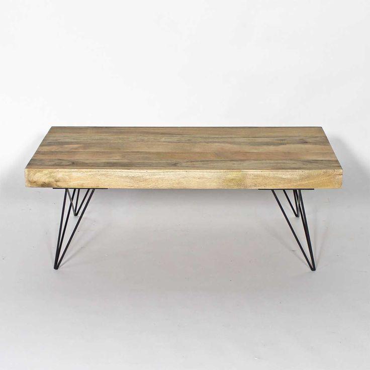 Table Basse Bois Metal Style Scandinave Btx