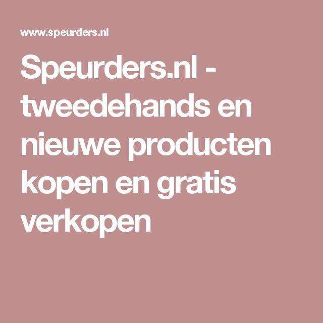 Speurders.nl - tweedehands en nieuwe producten kopen en gratis verkopen