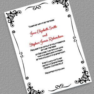 Retro Border Wedding Invitation