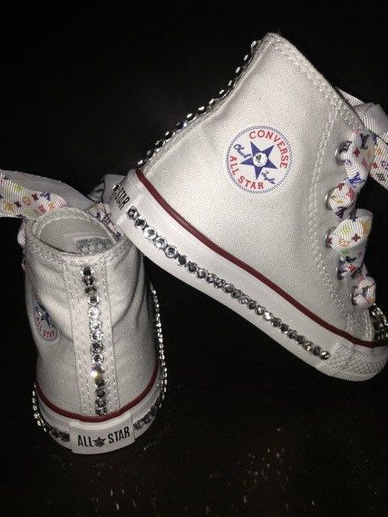 Custom Converse with Swarovski and Rainbow by TaylorsPenny on Etsy, $75.00