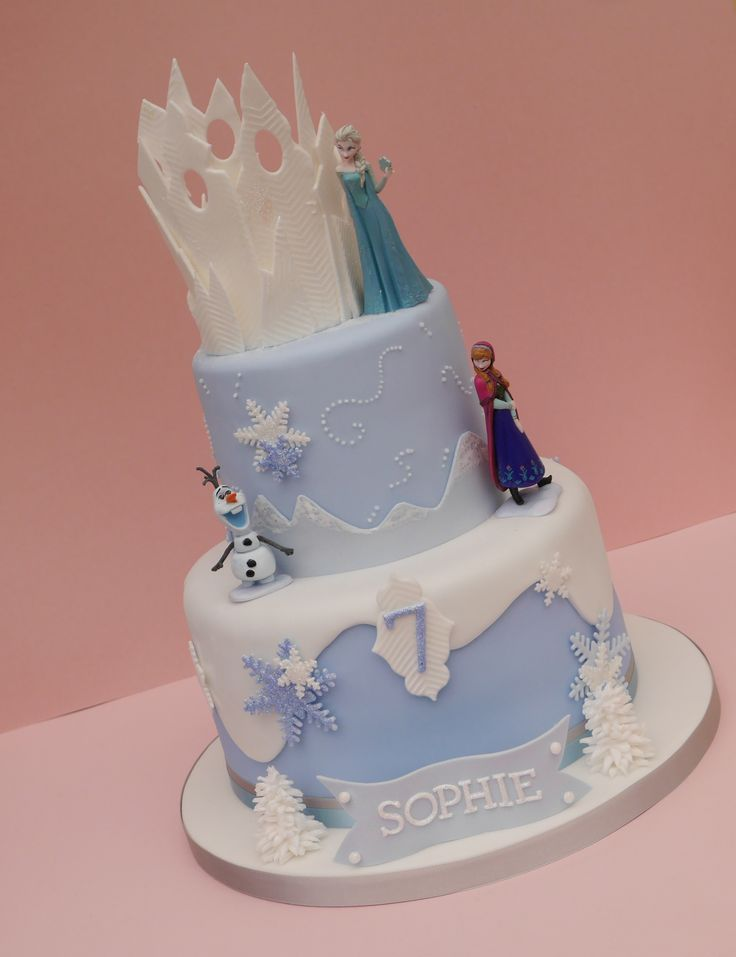 about Frozen Themed Birthday cakes on Pinterest  Frozen birthday cake ...