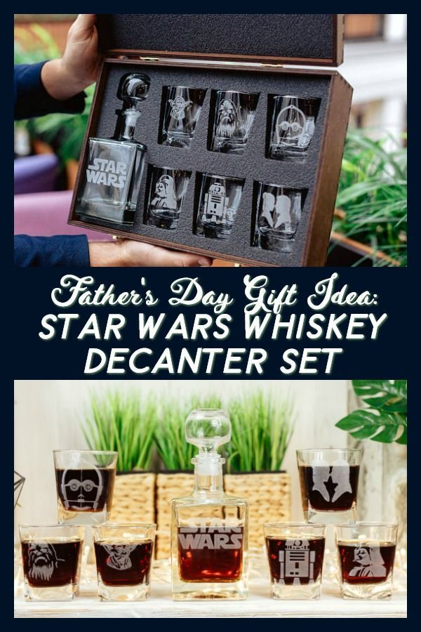 This Father's Day Gift Idea is perfect for the #starwars  fan in your life! Dad will love drinking his favorite whiskey out of this set. #gifts #gifti…
