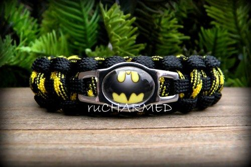 Batman Paracord Bracelets - Measurements required | ruCHARMED - Jewelry on ArtFire