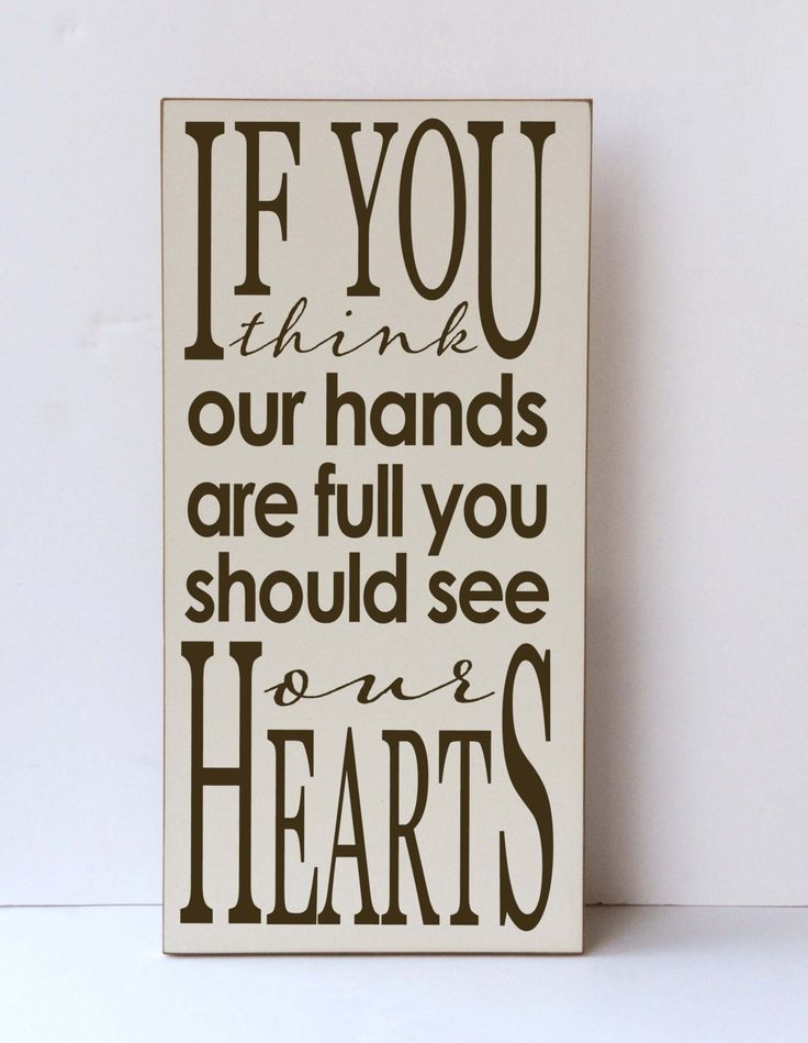 Hands Full Wood Sign See Our Hearts Wall Art For Family Gallery Wall Sign Nursery Decor Family Room Decor Children Art Family Art