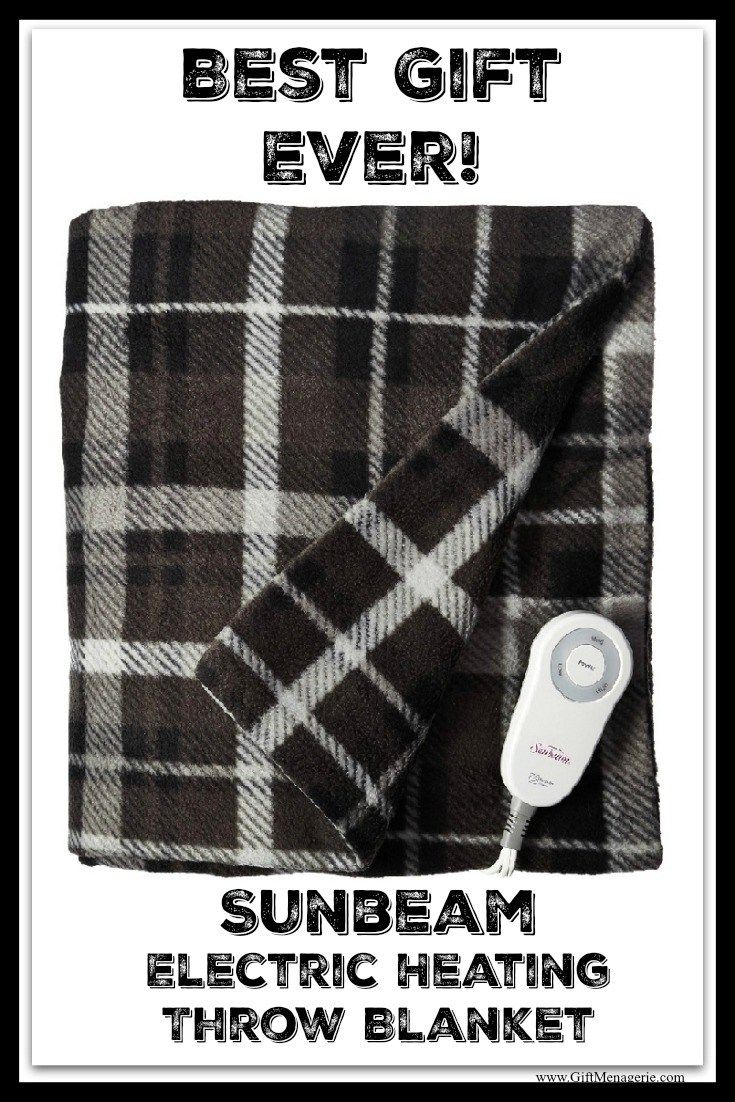 Sunbeam Electric Heated Throw Blanket - Gift Menagerie