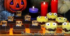 Halloween, tumbas y monstruos cremosos