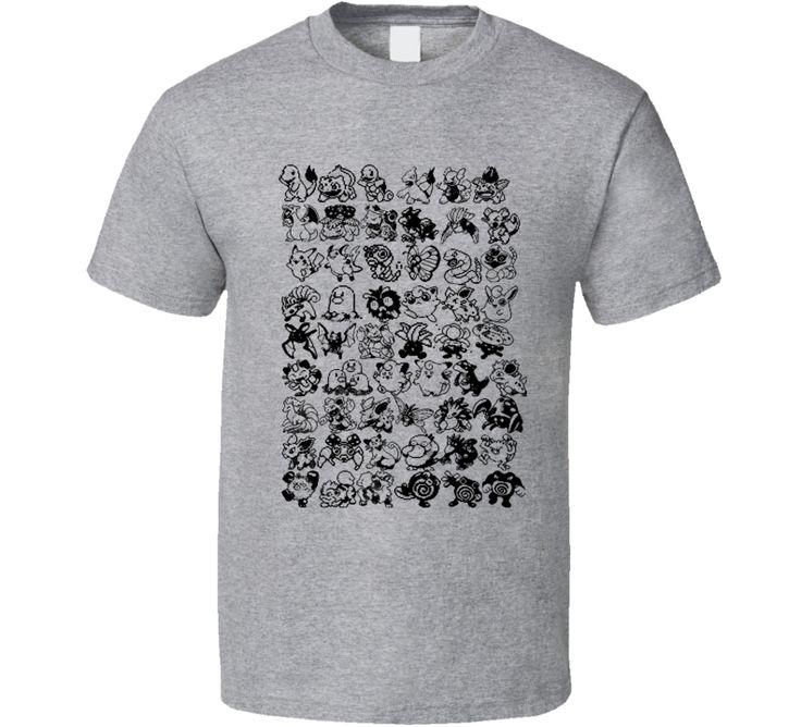 Pokemon Generation one 1 Pixel T Shirt