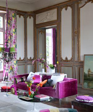 designers guild eberson a subtly shaded velvet with a. Black Bedroom Furniture Sets. Home Design Ideas