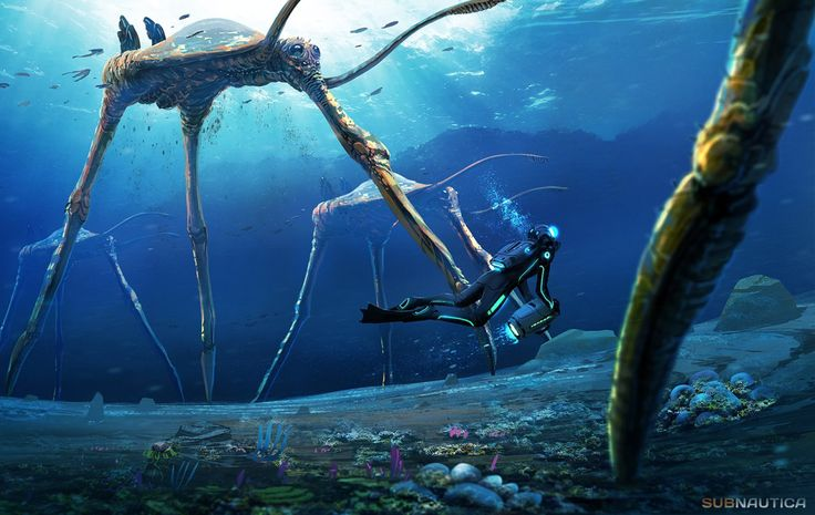 -The Sea Treaders- Creature Concept for an indie Sci Fi game Subnautica. Feel free to find out more about the game here. http://unknownworlds.com/subnautica/ Feel free to follow me for update on...