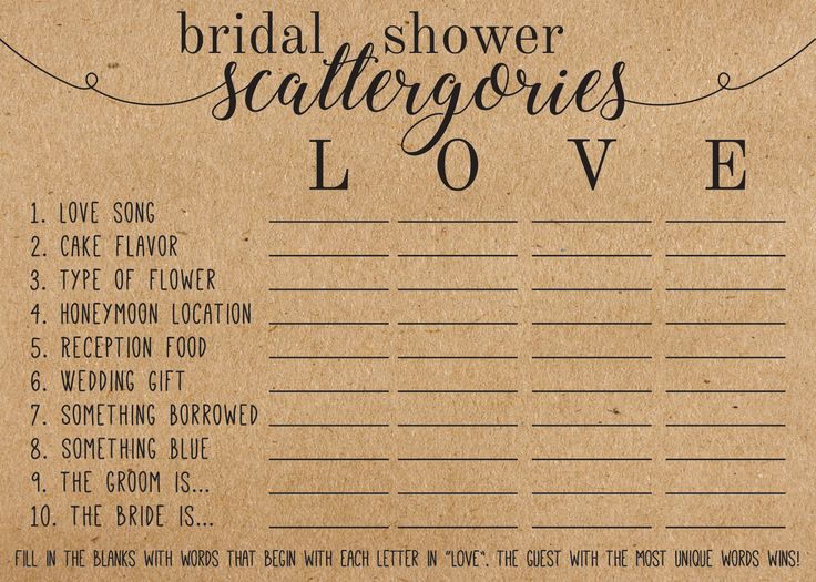 bridal shower games, wedding games, baby shower games, wedding invitations, Bridal Shower Scattergories Game, Bridal Shower Scattegories, bridal shower ideas, shower game, bridal shower invitations, bridal shower favors, bridal shower themes, bridal shower gifts, bridal shower, bridal shower cakes, bridal shower decorations, bridal shower decoration ideas, wedding party games, kitchen tea games, bridal bingo, wedding games ideas, bridal shower party