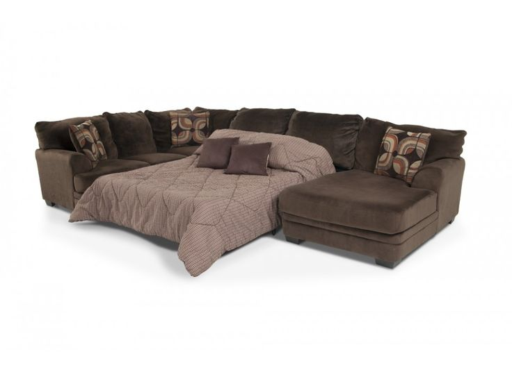 Charisma 3 Piece Left Arm Facing Sleeper Sectional Living Room Collections