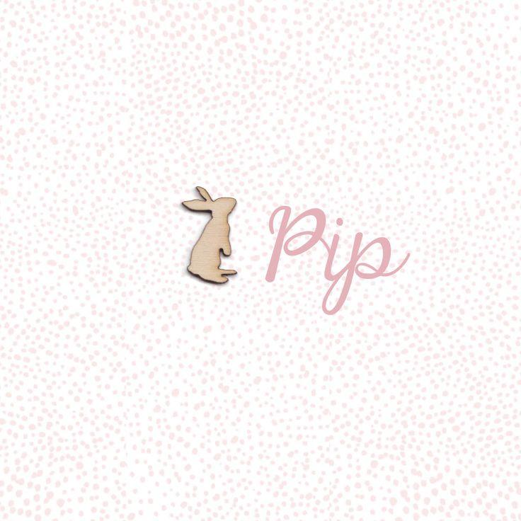 Lief geboortekaartje meisje_houten konijn_haasje_konijntje_birthannouncement rabbit_simpel_orgineel #www.studiokuuk.nl