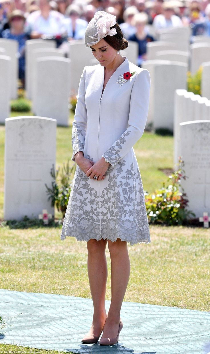 Honouring: The Duchess stood in silence for a moment as she honoured the memories of the t...