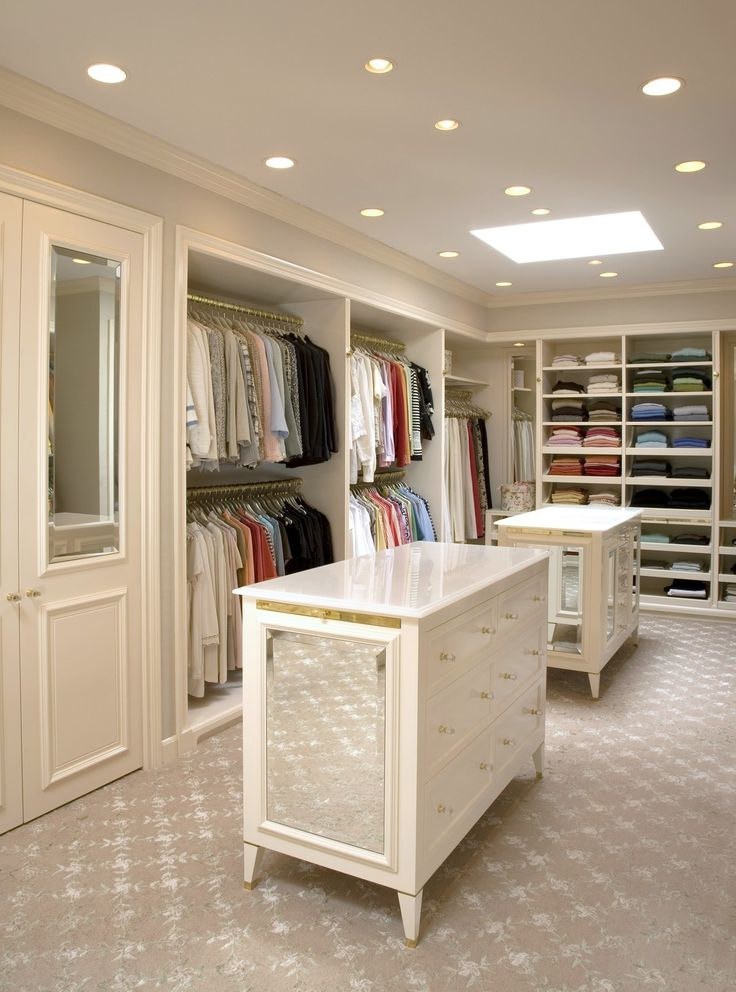 """""""A visual merchandising trick I learned a long time ago is to simply organize by type of clothing, left to right, light to dark,"""" she says. The key to getting the look just right? """"Make sure that everything is on the same monotone hangers so the clothes are visible, not the hanger."""""""