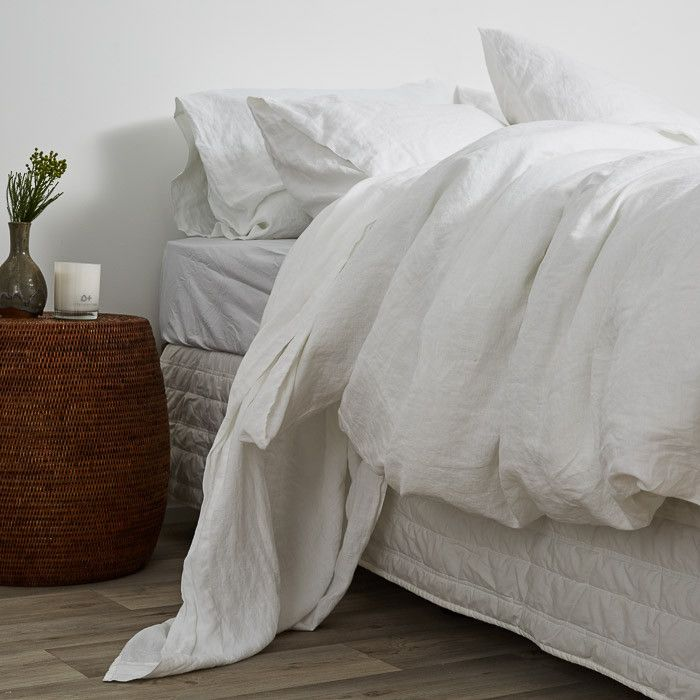 Linen Fusion Duvets and Pillowcases - White – Little Additions
