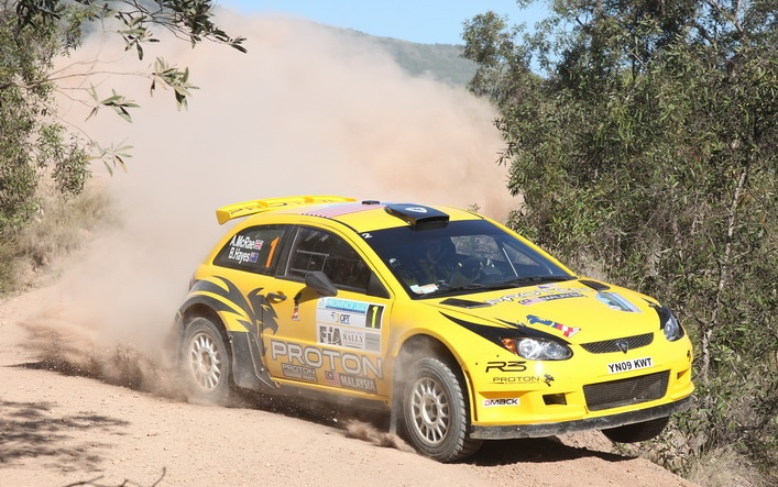 Alistair McRae three wheels at Rally New Caledonia