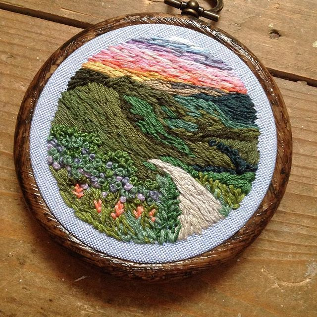 Mini country scene  up on @etsy #scenery #mountain #landscape