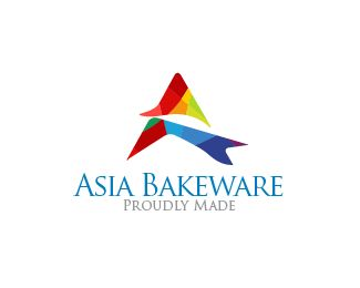 Asia Bakeware Logo design - Great for a: Bakery, Bakery Instument, cupcake truck, caterer, wedding planner, food stylist, food photographer, online bakery, internet bakery, international food brand, new food brand, Asian market, cupcake store, Asian food market, Asian restaurant, food blog, cookbook art, editorial art, urban store-front. Price $250.00