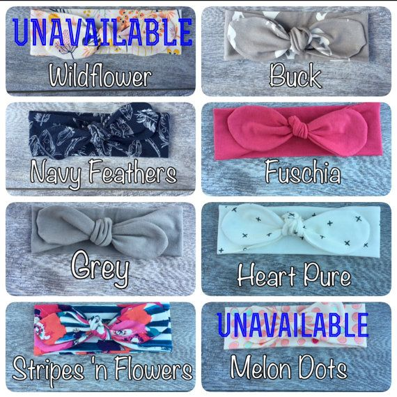 3 Topknot Headbands. Baby Girl Headband Set. by SweeteeHandmade