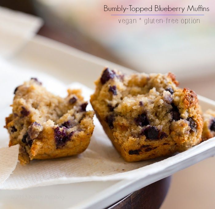 Bumbly-Topped Blueberry Muffins. Gluten Free & Classic Versions.