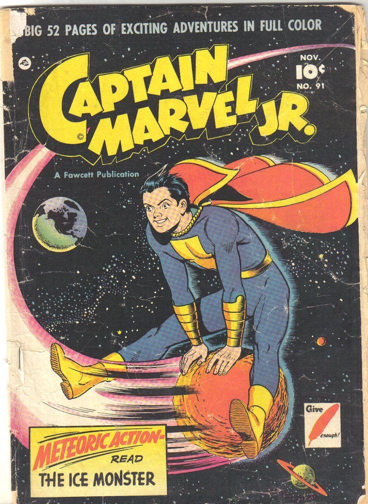 Captain marvel jr 91 november 1950 cover by kurt