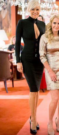 Yolanda Foster's Black Long Sleeve Keyhole Dress | Big Blonde Hair : Big Blonde Hair http://www.bigblondehair.com/real-housewives/rhobh/yolanda-fosters-black-long-sleeve-keyhole-dress/