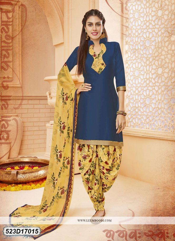 Buy Luscious Yellow Colored Glace Cotton salwar suit Online at Leemboodi Fashion .:LEM523D17015