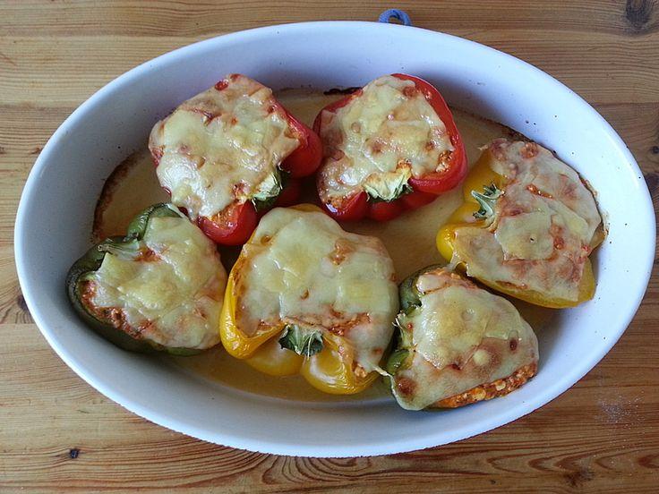Gefüllte Paprika mit Hüttenkäse 1
