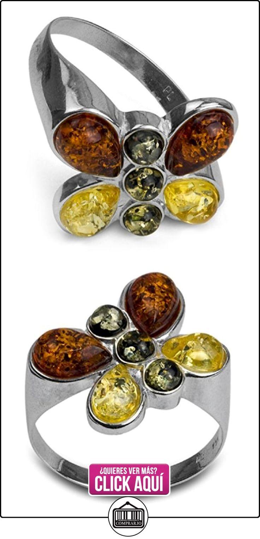 Noda anillo de plata con ámbares multicolores Mariposa talla 12  ✿ Joyas para mujer - Las mejores ofertas ✿ ▬► Ver oferta: https://comprar.io/goto/B00HFC8H1U