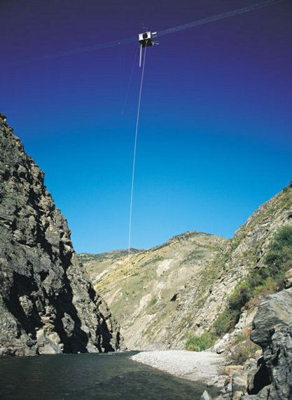 Scary as HELL, but absolutley incredible! 8 Second freefall - Nevis Highwire, Queenstown, NZ.