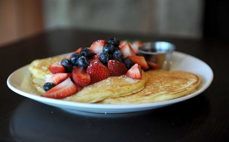 The name is accurate: Cook's Scratch Kitchen & Bakery in East Northport makes just about everything from scratch. Jump-start your morning with pancakes topped with mixed fruit (pictured), waffles studded with pecans or an egg and Cheddar sandwich on a flaky house-made biscuit.