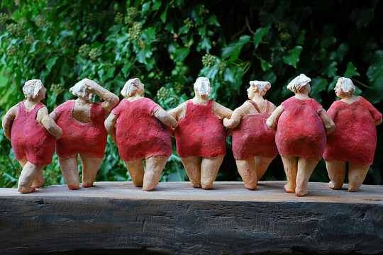 Papier Mache Bathing Beauties!