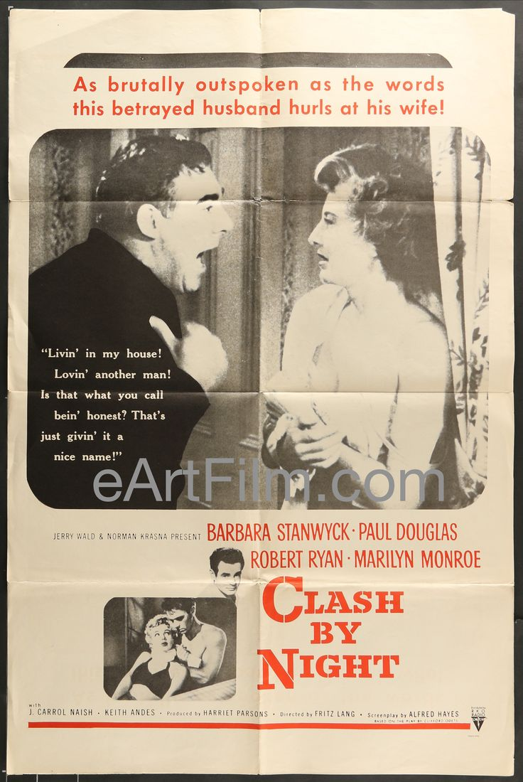 Love movies as much as we do? Clash By Night-Ma... For your consideration. http://eartfilm.com/products/clash-by-night-marilyn-monroe-fritz-lang-robert-ryan-barbara-stanwyck-r60s?utm_campaign=social_autopilot&utm_source=pin&utm_medium=pin