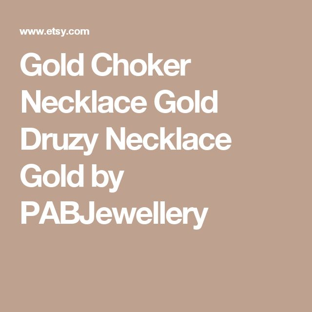 Gold Choker Necklace Gold Druzy Necklace Gold by PABJewellery