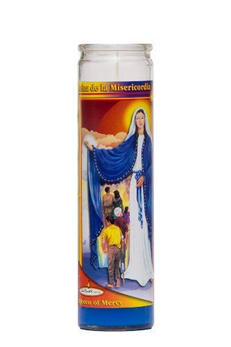Queen of Mercy Religious Prayer Candle / Reina de la Misericordia Novena Vigil Candle * Read more details by clicking on the image. #ScentedCandles
