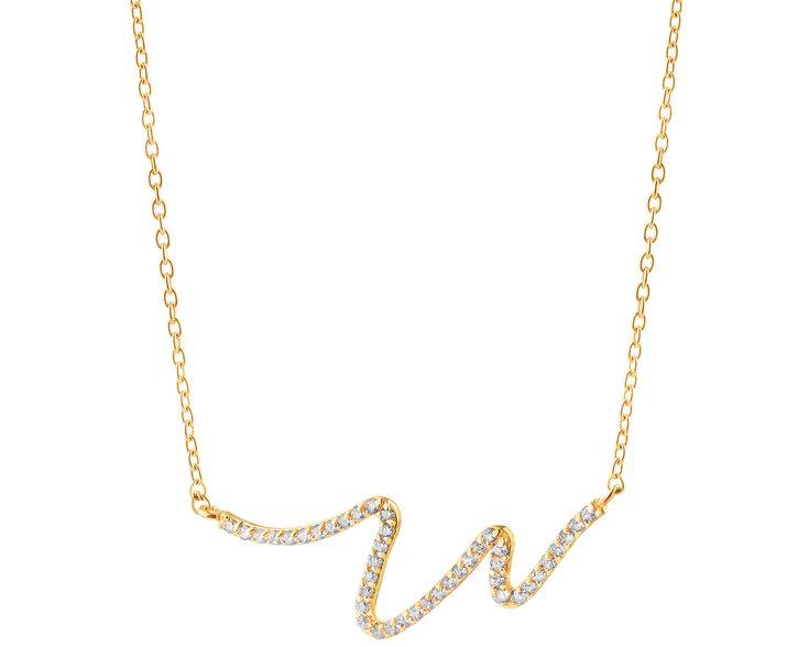 Złoty naszyjnik - wzór AP125-5048 / Apart