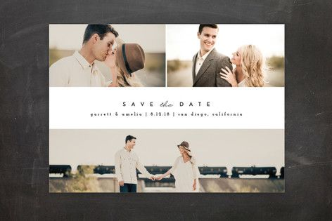 Simple Date Save The Date Postcards by peony papeterie at minted.com
