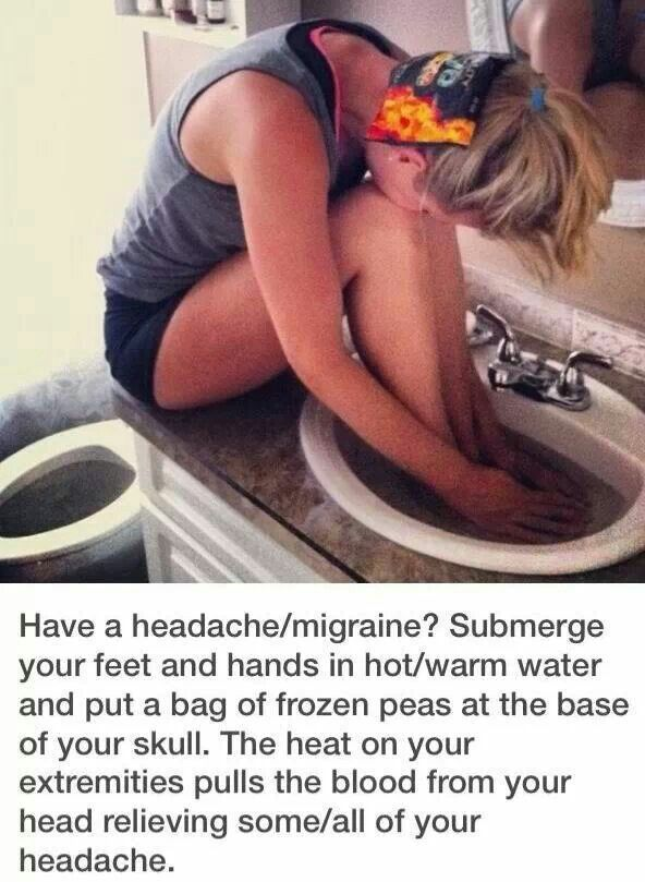 headache relief...it works I tired it. Nothing was helping did this and my head isn't throbbing anymore!