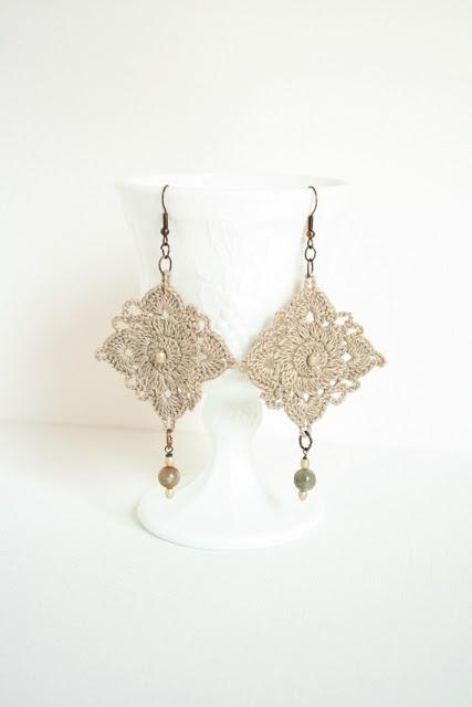Crochet earrings/pendientes de ganchillo