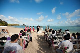 Let's Do This Event and Wedding Planning: Secret Island Kualoa Ranch Wedding + Roy's Hawaii Kai Reception Amelia + Adam