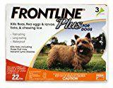 3-doses 5-22 lbs Dogs Flea and Tick Treatment, Small, Orange