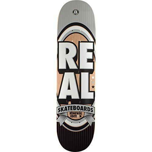 Real Skateboards Renewal Stack Silver Skateboard Deck - 8.06 x 32 by Real Skateboards. Real Skateboards Renewal Stack Silver Skateboard Deck - 8.06 x 32.