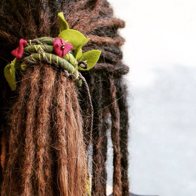 Forest vine SpiraLock - The original bendable dread tie to wrap and secure your dreads available on etsy