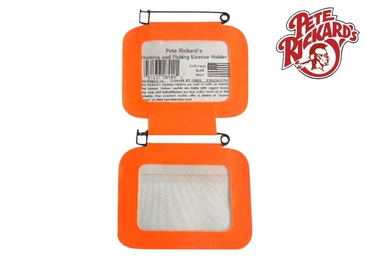 RICKARDS  NEW DELUXE DOUBLE PA HUNTING LICENSE HOLDER