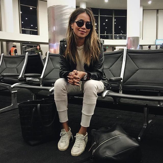 Airport swag  | @shop_sincerelyjules joggers X @thekooplesofficial jacket