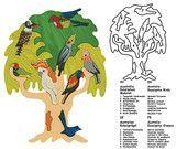 Ähnliche Artikel wie Baum mit Vögeln - Australian - Montessori - Waldorf Holz Puzzle, gemacht von Hand aus Ahornholz, keine schädlichen Farben und ohne Lack auf Etsy