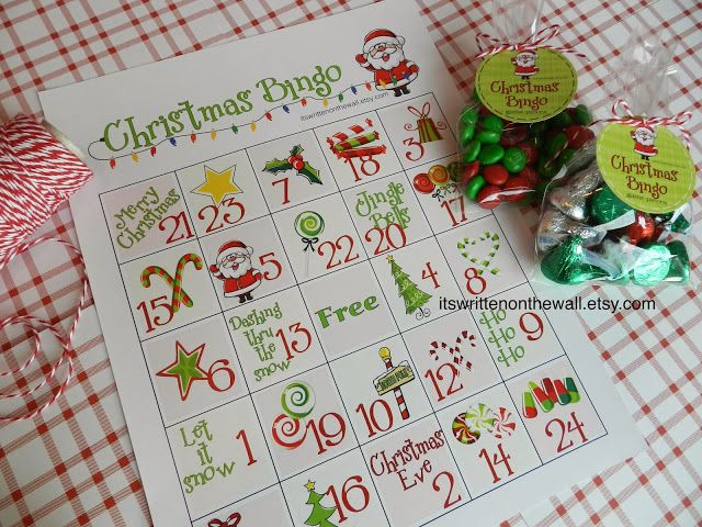 It's Written on the Wall: Christmas Bingo-A Fun Game for Christmas Parties at Home or School