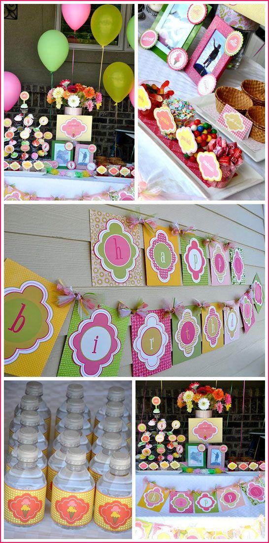 ice cream birthday party: Ice Cream Party, Ice Cream Themed, Cream Birthday, Ice Cream Social, Good Idea, Happy Birthday Banners, Icecream, Happy Birthday Signs, Birthday Party